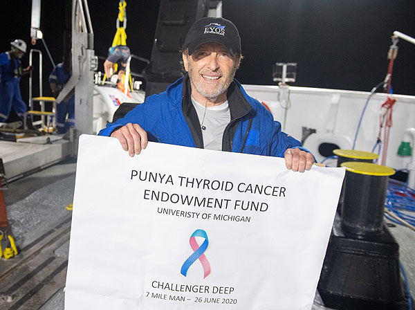 After the dive. Two new world records for thyroid cancer!